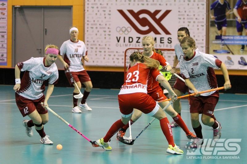 Latvijas florbolistēm ceturtā uzvara pēc kārtas