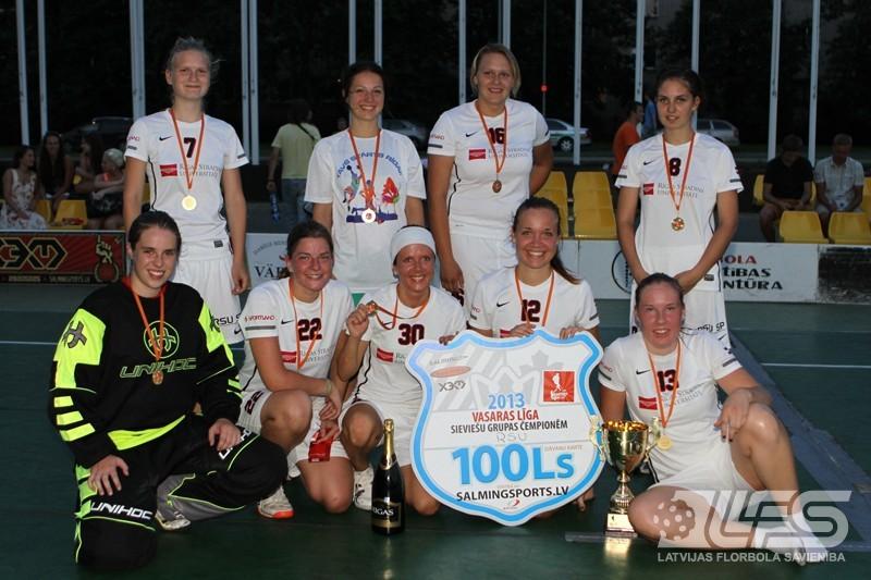 Par Vasaras līgas S grupas čempionēm kļūst RSU florbolistes