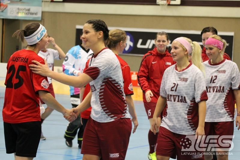 Latvijas sieviešu izlasei rekorduzvara pār austrietēm