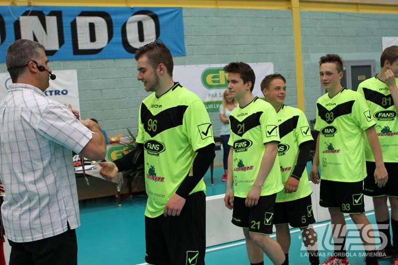 """Junioru čempionātā triumfē """"Lielvārde/COFFE MASTER/FANS"""""""