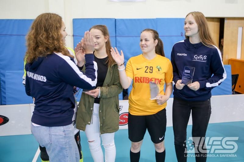 Nosaukta olimpiādes florbola turnīra meiteņu simboliskā izlase