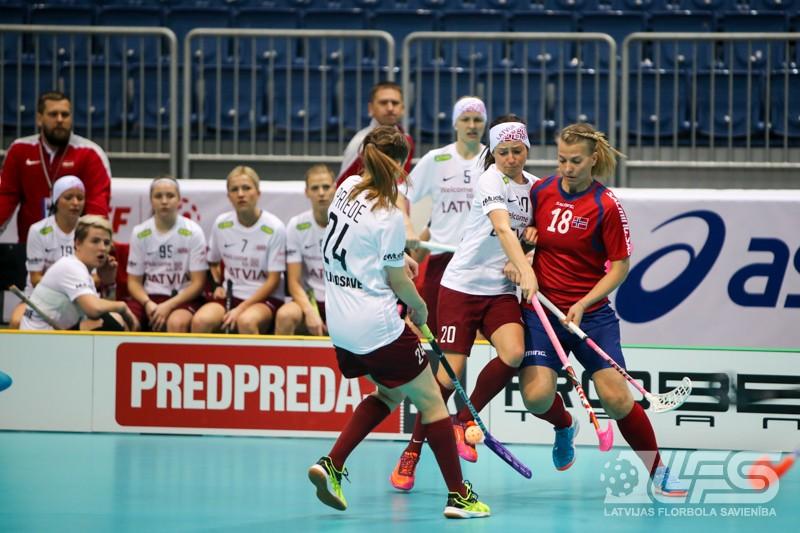 Latvijas izlase spraigā cīņā zaudē norvēģietēm