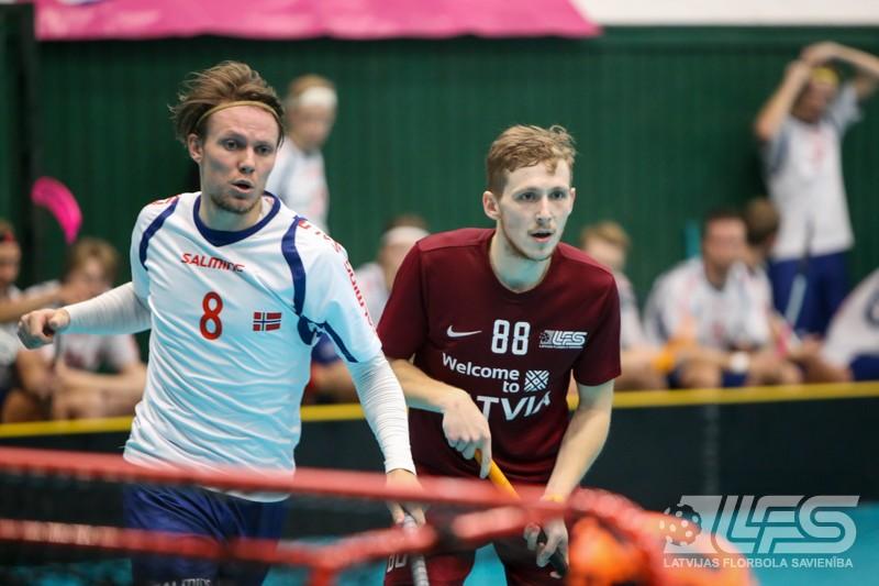 Izlase piekāpjas norvēģiem, bet saglabā cerības uz pusfinālu