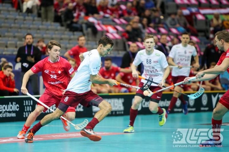 Latvijas izlase labi sāk, tomēr piekāpjas šveiciešiem