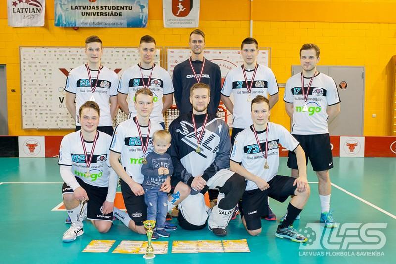 Latvijas 29. Universiādē florbolā triumfē RTU studenti