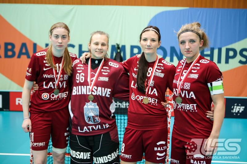 Latvietes pasaules čempionātu noslēdz ar zaudējumu vācietēm un 8. vietu